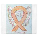 Peach Awareness Ribbon Angel King Duvet