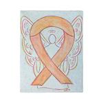 Peach Awareness Ribbon Angel Twin Duvet