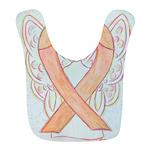 Peach Awareness Ribbon Angel Bib