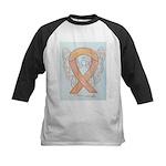 Peach Awareness Ribbon Angel Baseball Jersey
