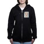 Peach Awareness Ribbon Angel Women's Zip Hoodie