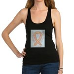 Peach Awareness Ribbon Angel Racerback Tank Top