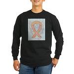 Peach Awareness Ribbon Angel Long Sleeve T-Shirt