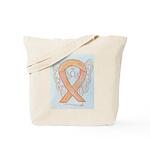 Peach Awareness Ribbon Angel Tote Bag