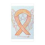 Peach Awareness Ribbon Angel Sticker