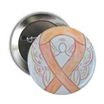 Peach Awareness Ribbon Angel 2.25
