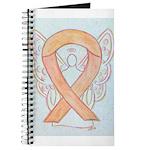 Peach Awareness Ribbon Angel Journal