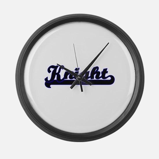 Knight Classic Job Design Large Wall Clock