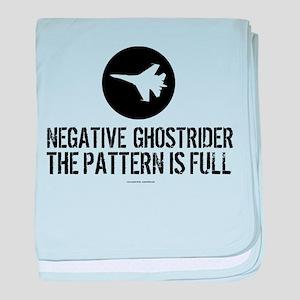 Negative Ghostrider baby blanket