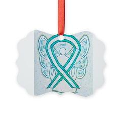Cervical Cancer Awareness Ribbon Ornament