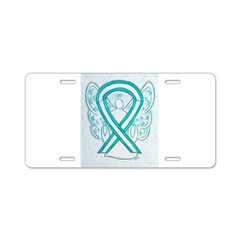 Cervical Cancer Awareness Ribbon Aluminum License