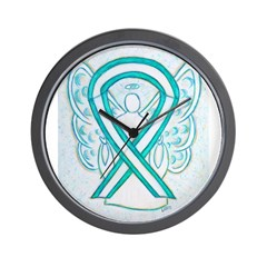 Cervical Cancer Awareness Ribbon Wall Clock