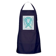 Cervical Cancer Awareness Ribbon Apron (dark)