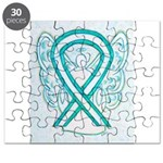 Cervical Cancer Awareness Ribbon Puzzle