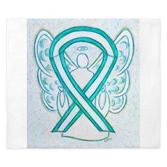 Cervical Cancer Awareness Ribbon King Duvet