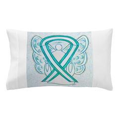 Cervical Cancer Awareness Ribbon Pillow Case