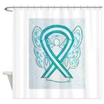 Cervical Cancer Awareness Ribbon Shower Curtain