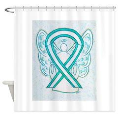 Cervical Cancer Awareness Ribbon Shower Curtain