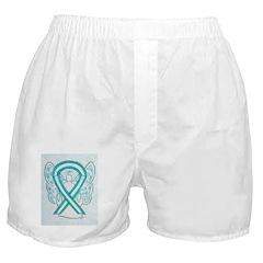 Cervical Cancer Awareness Ribbon Boxer Shorts