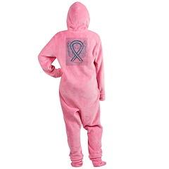 Cervical Cancer Awareness Ribbon Footed Pajamas