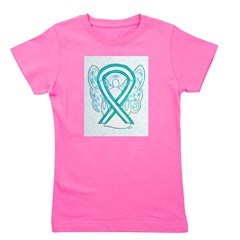Cervical Cancer Awareness Ribbon Girl's Tee