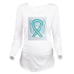 Cervical Cancer Awareness Ribbon Long Sleeve Mater