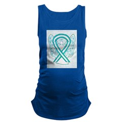 Cervical Cancer Awareness Ribbon Maternity Tank To