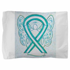 Cervical Cancer Awareness Ribbon Pillow Sham