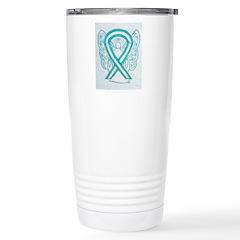 Cervical Cancer Awareness Ribbon Travel Mug