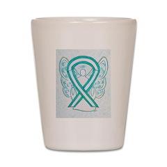 Cervical Cancer Awareness Ribbon Shot Glass