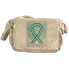 Cervical Cancer Awareness Ribbon Messenger Bag