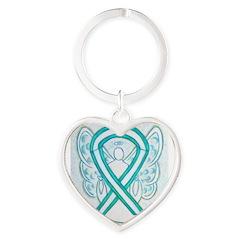 Cervical Cancer Awareness Ribbon Keychains