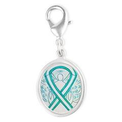 Cervical Cancer Awareness Ribbon Charms