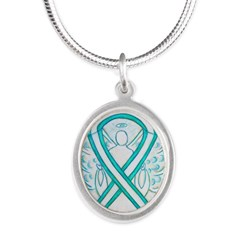 Cervical Cancer Awareness Ribbon Necklaces