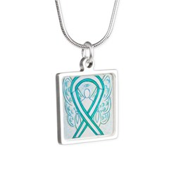 Cervical Cancer Awareness Ribbon Necklaces