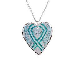 Cervical Cancer Awareness Ribbon Necklace