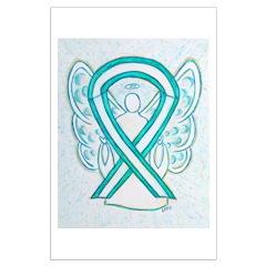 Cervical Cancer Awareness Ribbon Posters