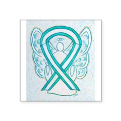 Cervical Cancer Awareness Ribbon Sticker