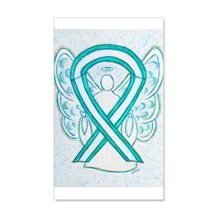 Cervical Cancer Awareness Ribbon Wall Decal