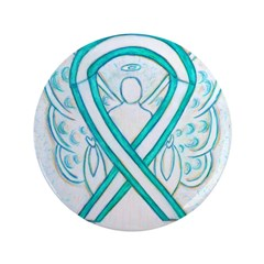 Cervical Cancer Awareness Ribbon Button