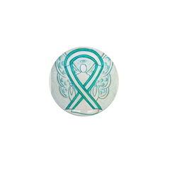Cervical Cancer Awareness Ribbon Mini Button (100