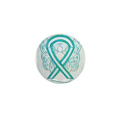 Cervical Cancer Awareness Ribbon Mini Button (10 p