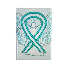 Cervical Cancer Awareness Ribbon Rectangle Magnets