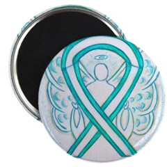 Cervical Cancer Awareness Ribbon Magnets