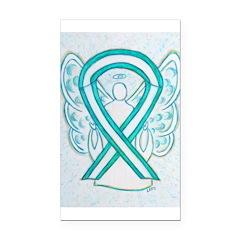 Cervical Cancer Awareness Ribbon Rectangle Car Mag