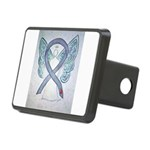 Diabetes Awareness Ribbon Angel Hitch Cover