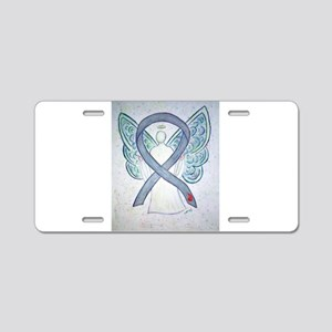 Diabetes Awareness Ribbon Angel Aluminum License P