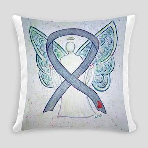 Diabetes Awareness Ribbon Angel Everyday Pillow