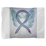 Diabetes Awareness Ribbon Angel Pillow Sham