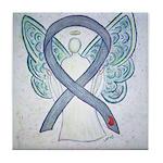 Diabetes Awareness Ribbon Angel Tile Coaster